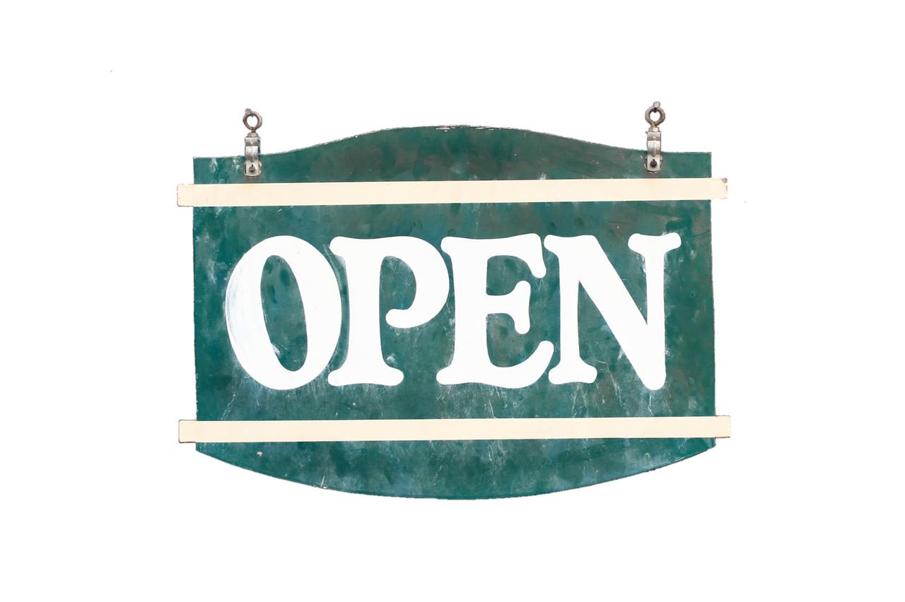 Open Sign of Wellness House
